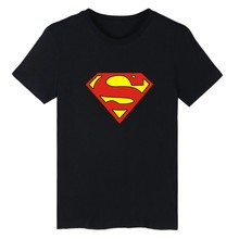 New Arrival Superman Print T-Shirt Black Men Fashion And Hip Hop Style Cotton Tee Shirt Men Funny Luxury In Plus Size 4XL