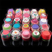 TTLIFE 100pcs/lot Muffin Paper Cup Box Cupcake Wrappers Baking Cups Cases Muffins Cake Package Kitchen Decorating DIY Tools