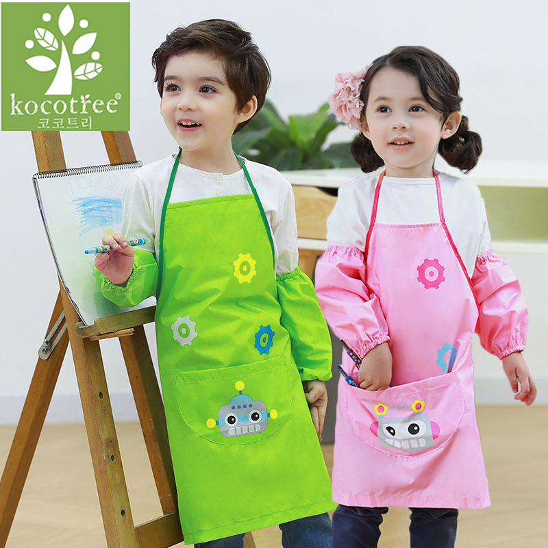 CHILDRENS LONG SLEEVED APRON WATERPROOF ART /& CRAFT SMOCK FOR PAINTING COOKING