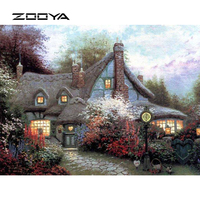 ZOOYA Full Diamond Embroidery Needlework Diy Rhinestones Cross Ctitch Kits Full Diamond Mosaic Natural Scenic BB1417