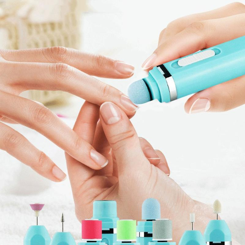 Portable 9 in 1 Multifunctional Electric Nail Polisher Grinding ...