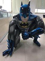 新しい91*111センチジャイアントスーパーヒーローバットマンアルミバルーン大立体ヘリウム風船ベビーキッズ誕生日パーティーの装飾風