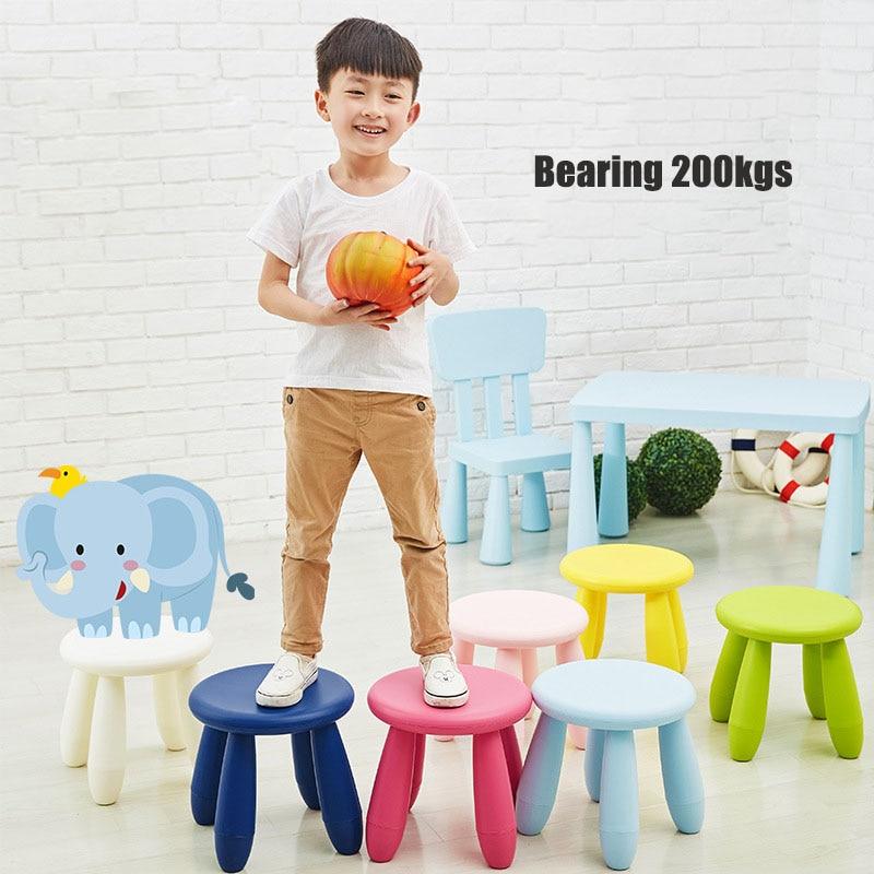 colorful Children's stool chair BB stool Plastic kindergarten stool PP baby seater adult stool ottoman infant school shoestool