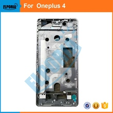 FLPORIA For Oneplus 4 Front LCD Frame Supporting Bezel Chassis Housing Holder One Plus Four Replacement Parts