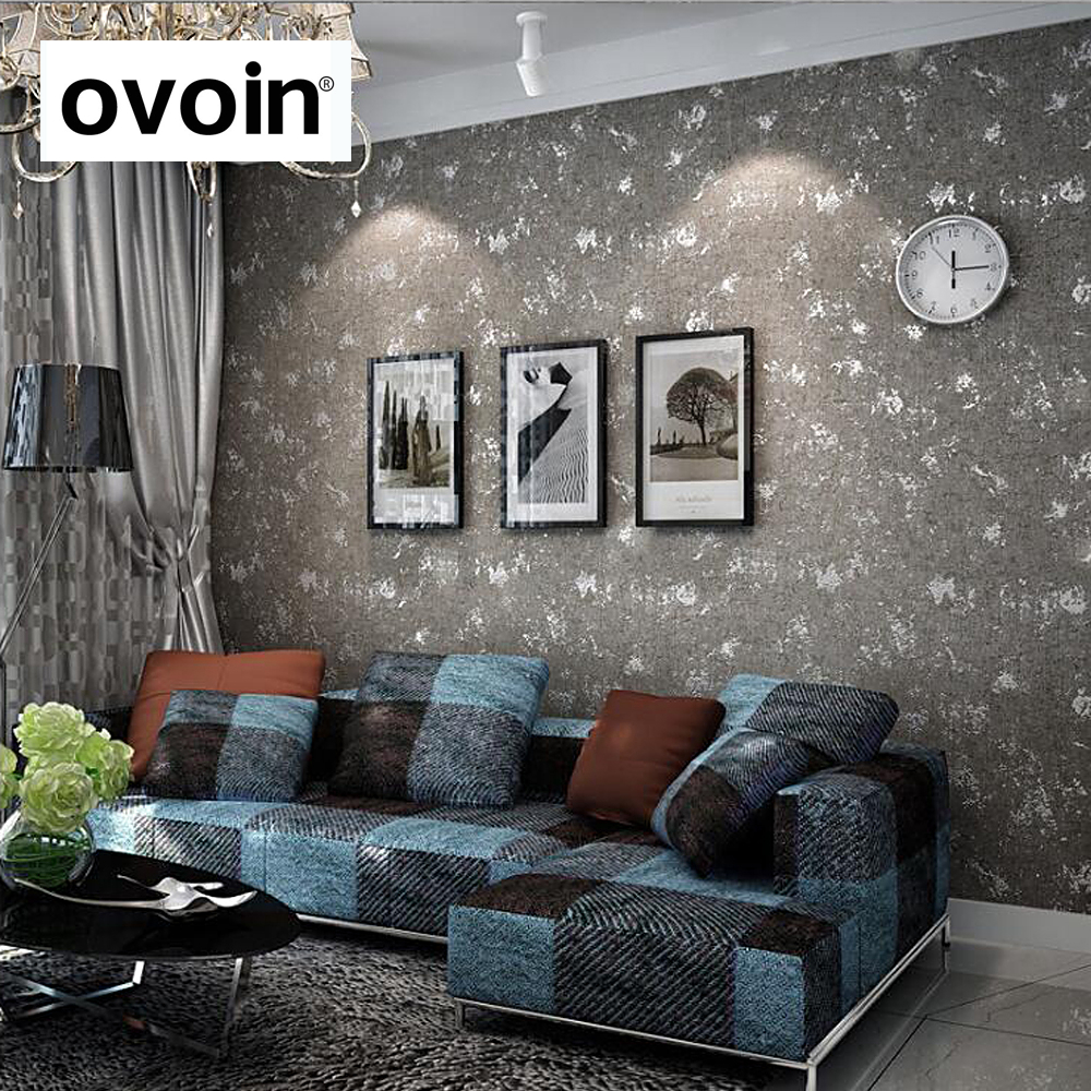 Industril Concrete Texture Wall Design Gray Grey Wallpaper Modern For Walls Solid Color Plain Wall Paper Rolls Non Woven vintage wallpaper modern 3d embossed imitation wood texture wall paper rolls for walls restaurant cafe background wall cocvering