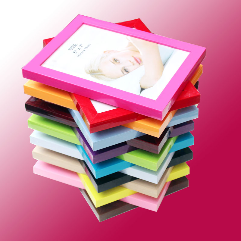 colorful photo frames plastic