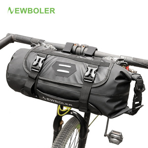 NEWBOLER Bike Front Tube Bag Waterproof Bicycle Handlebar Basket Pack Cycling Front Frame Pannier Bicycle Accessories(China)