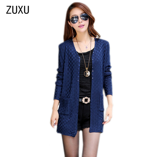 a4e21798c8d Women Sweater Long Cardigan Fashion Summer Style Long Sleeve Thin Knitted  Cardigan female Sweaters Free Shipping