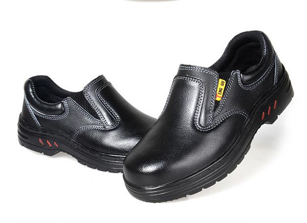 Plus Size Chef Shoes Oil Resistant Work Shoes Waterproof Kitchen Work Shoes  For Men Steel Toe