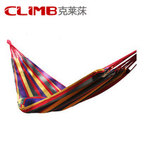 Muti color Portable Travel Outdoor Camping Tourism Cotton Rope Swing Fabric Stripes Single Leisure Folding Hammock Canvas Bed