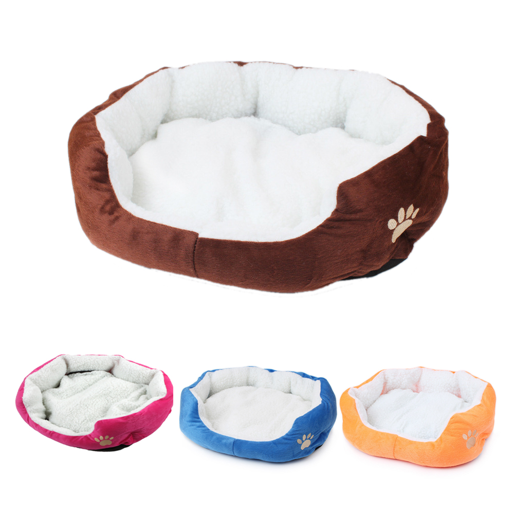 Cute Cat Bed Soft Pet Dog Bed Mini House For Candy Colored Dogs Beds Soft Warm Pet House Kennel For Puppy Cat Pet Dog Supplies
