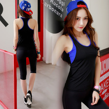 New Womens Yoga Sets Sleeveless Backless Tops Pants Fitness Body Building Gym Sportswear Women Tight Sports Clothing
