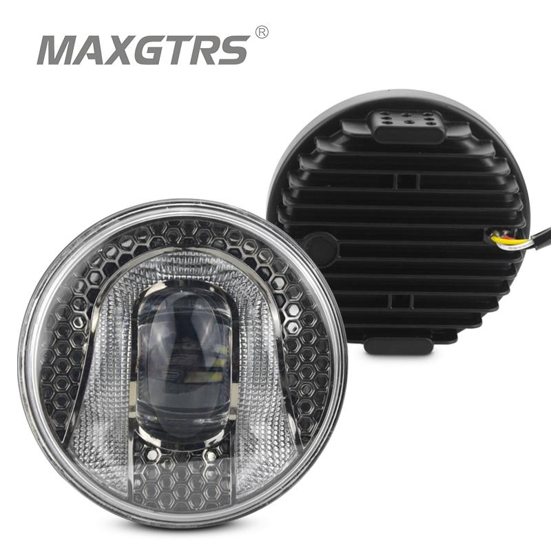 2x 2 5 3 5 Inch CREE LED Chips Fog Light DRL Daytime Running Light Bulb