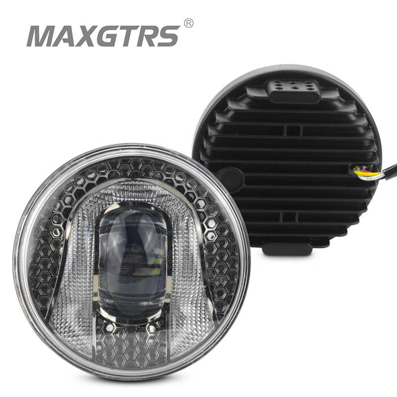 2x 2.5 3.5 Inch CREE LED Chips Fog Light DRL Daytime Running Light Bulb for Ford Nissan Honda Mitsubishi Toyota Lexus Suzuki