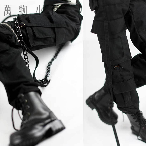 NEW 1/3 SD17 Uncle Boy Fashion handsome Black/Army green Vertical band overalls BJD clothes new handsome fashion stripe black gray coat pants uncle 1 3 1 4 boy sd10 girl bjd doll sd msd clothes