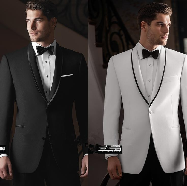 New Arrival One Button Shawl Collar Groom Tuxedos Groomsmen Mens Wedding Suits Prom Bridegroom (Jacket+Pants+Girdle+Tie) NO:353