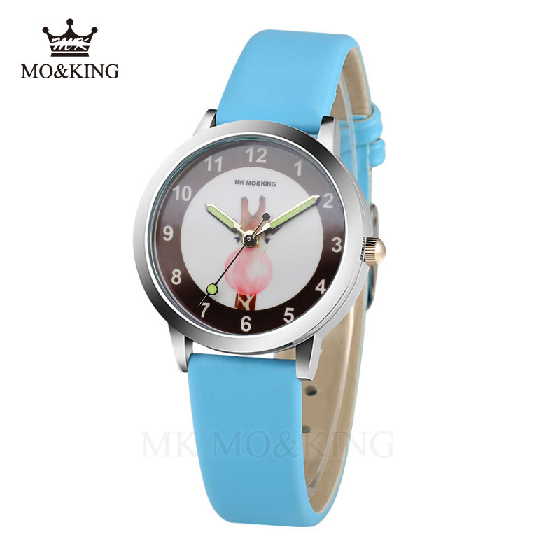 Luxury Brand Children's Watches Small Students Girls Boys Clock Quartz Wrist Wrists Leather Relogio Masculino Relojes Relogio Mk