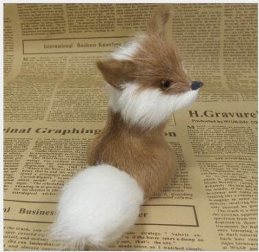 WYZHY simulation small fox birthday gift Christmas gift interior decoration teaching home model ornaments to send friendsWYZHY simulation small fox birthday gift Christmas gift interior decoration teaching home model ornaments to send friends