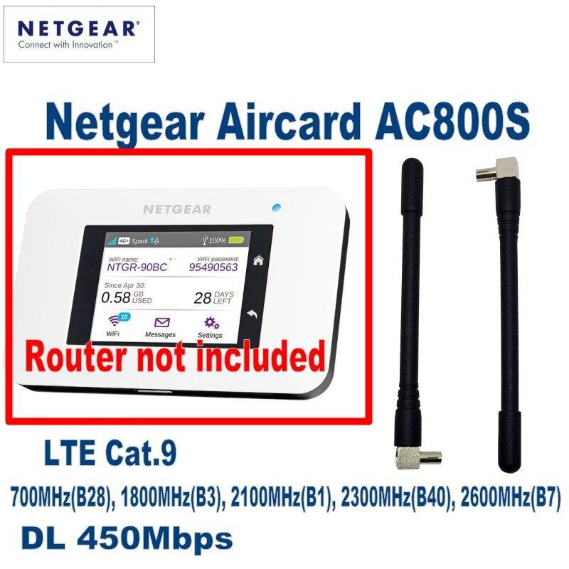 Nueva 2 piezas 4G LTE 5dBi antena TS9 conector para Netgear genuine aerocoche AC790S AC810S AC800S y más