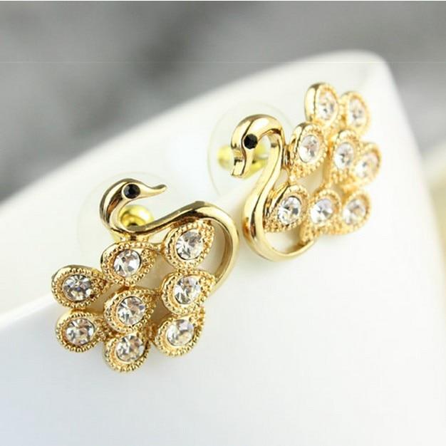 2017 New Hot ! Fashion Fine Jewelry Gold Color Rhinestone Sweet Cute Beautiful D