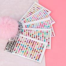504 шт./лот 6 мм акриловые стразы ткань телефон Скрапбукинг дизайн ногтей DIY материал для вечерние украшения