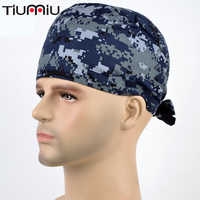 Doctor Breathable Scrubs Cosmetic Military Style Cool Hospital Medical Caps Surgical Hat Nurse Unisexmen Women Dentist