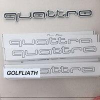 באיכות גבוהה לוגו Quattro סמל מדבקות מכונית מקל תג ABS גריל קדמי לקצץ תחתון לאאודי A4 A5 A6 A7 RS5 RS6 RS7 RS Q3
