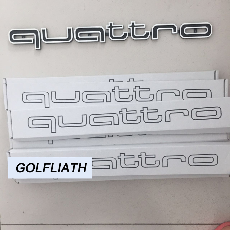 High quality Quattro Logo Emblem Badge Car Stick ABS Stickers front grill Lower trim For Audi A4 A5 A6 A7 RS5 RS6 RS7 RS Q3 black color car emblem sticker rear tail sticker logo rs3 rs4 rs5 rs6 badge logo 3d aluminum alloy for audi rs3 rs4 rs5 rs6