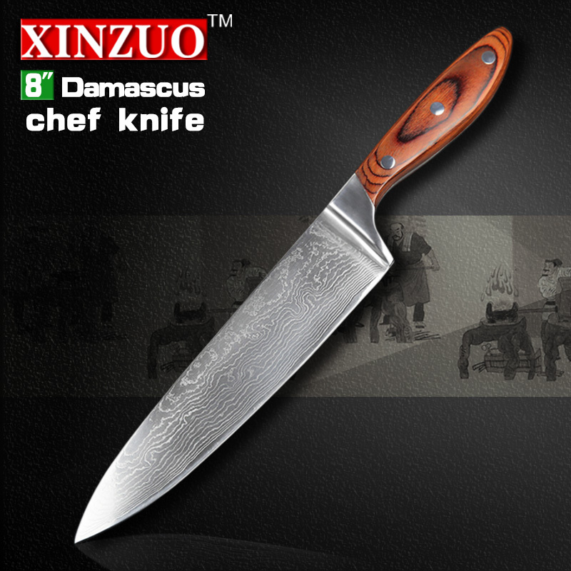 NEW 8 inch chef font b knife b font 73 layers High quality Japanese VG10 Damascus