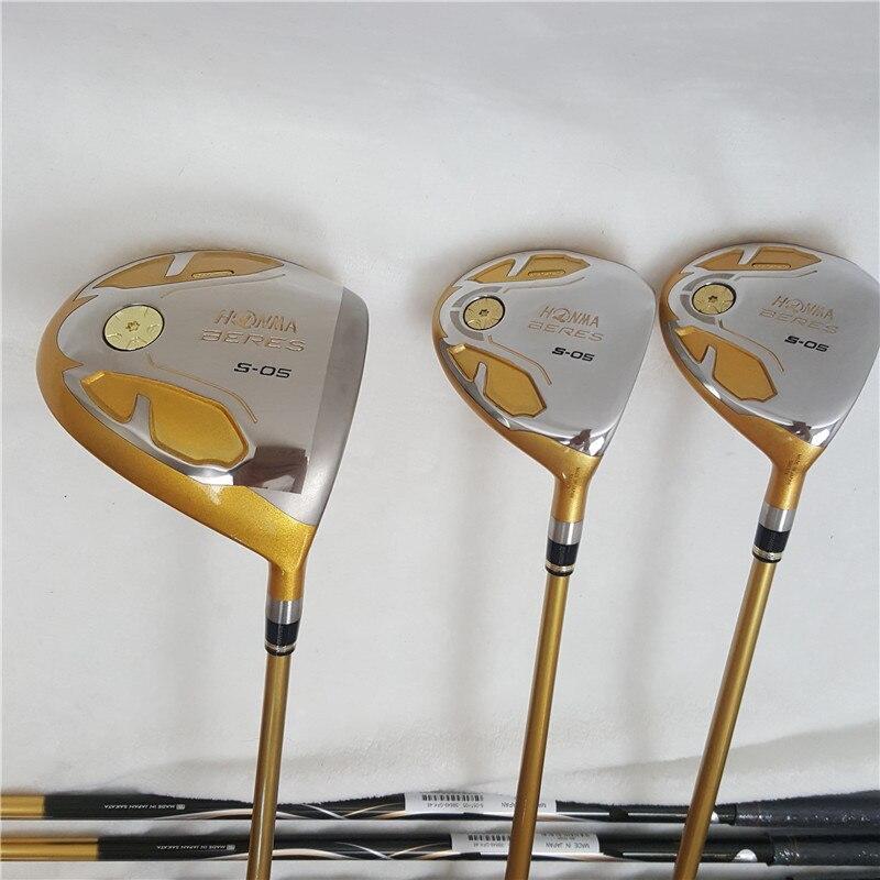Golf Clubs ensemble complet Honma Bere S-05 4 étoiles golf club ensembles pilote + Fairway + fer de Golf + putter (14 pièces) pas de sac de Golf - 2