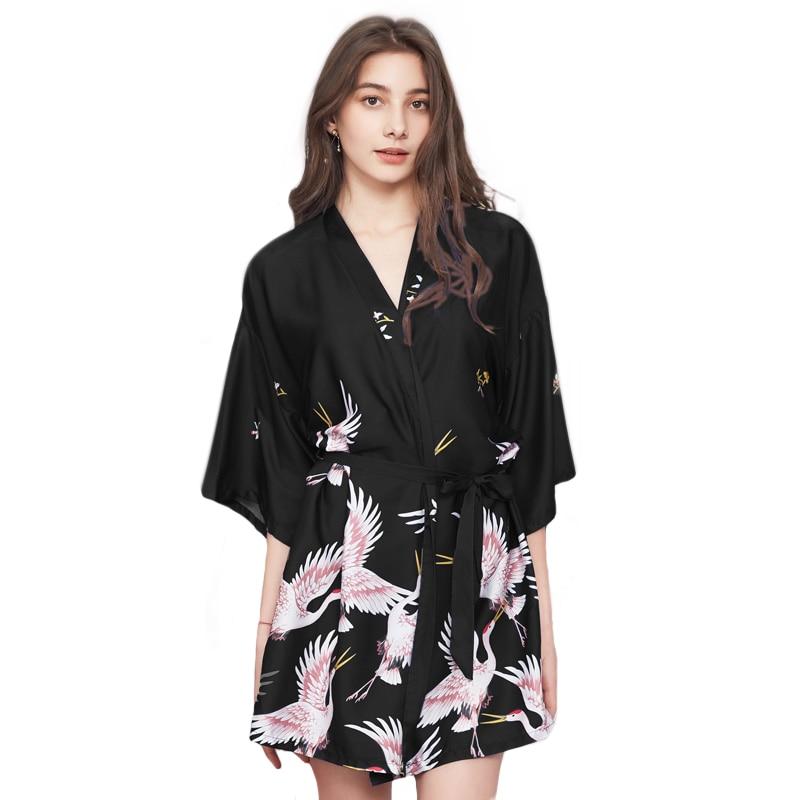 713f3a2de561 Aliexpress.com. Sexy Della Signora Stampato Animali Robe di Raso Rayon  Accappatoio Delle Donne Kimono Geisha Degli Indumenti