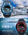 Цифровой Спорт Мужчины Смотреть 50 М Diver Кварцевые Военная Световой Солнечной Наручные Часы 2016 Мода Двумя дисплеями С Шок электронные часы
