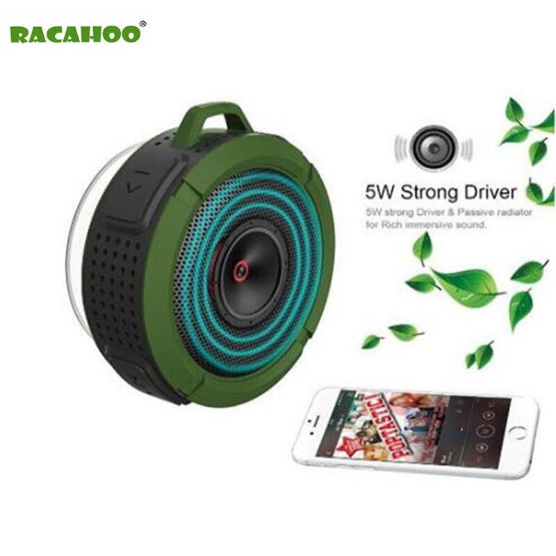 RACAHOO Bluetooth Speaker Portable Stereo Outdoor Soundbar With Wireless Handsfree Bass Life Waterproof Loudspeaker For phone