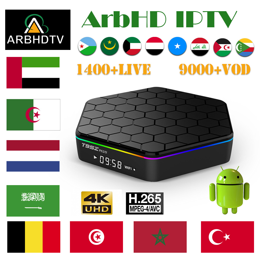 IPTV France Arabic T95Z Plus 1 month IP TV French Full HD Turkey Subscription 4K Box Belgium Morocco
