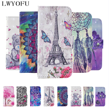Flip wallet 3D painted leather case for Sony XZ3 Xperia1/XZ4 L2 L3 patterned mobile phone