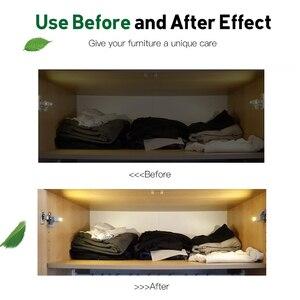 Image 5 - Goodland LED Night Light Automatic Sensor Light Wardrobe Inner Hinge Lamp Cabinet Light With Battery For Kitchen Cupboard Closet