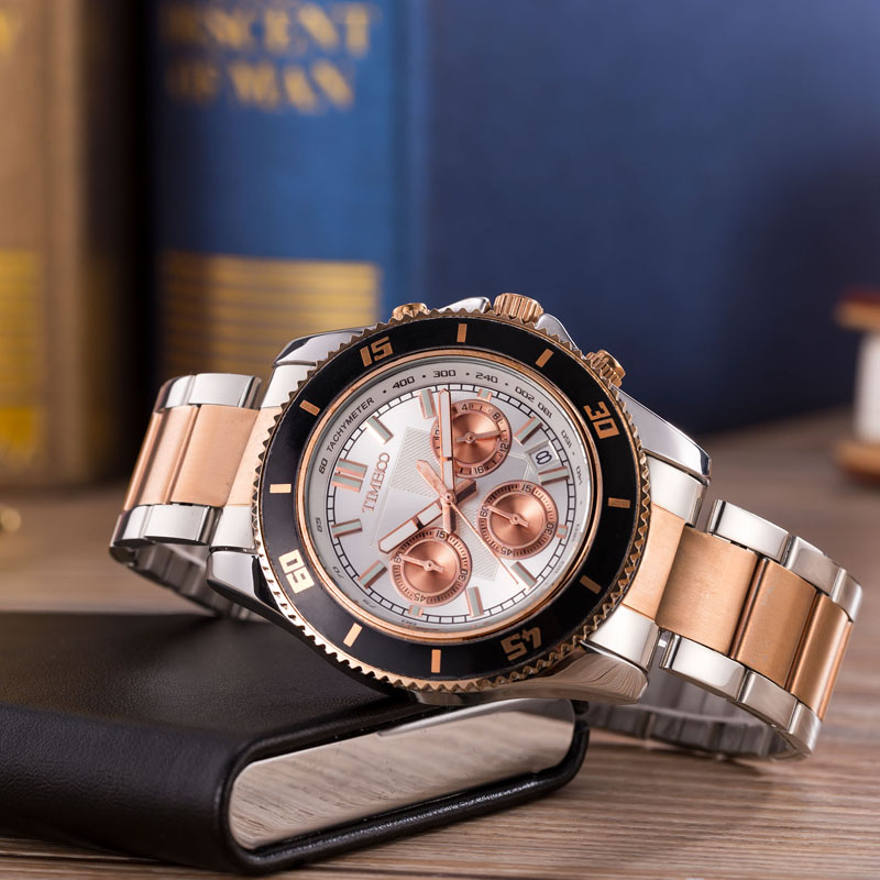 2018 TIME 100 Brand Luxury Stainless Steel Strap Analog Display Date Men's Quartz Watch Casual Watch Men Watches relogio masculi