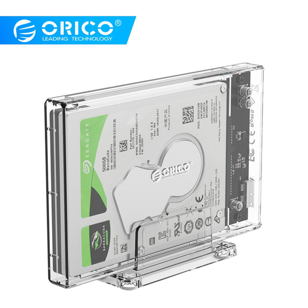 ORICO 2159U3 2.5 Inch Transparent USB3.0 Hard Drive Enclosure With Stand For SSD Disk HDD Box External Enclosure Case 4TB