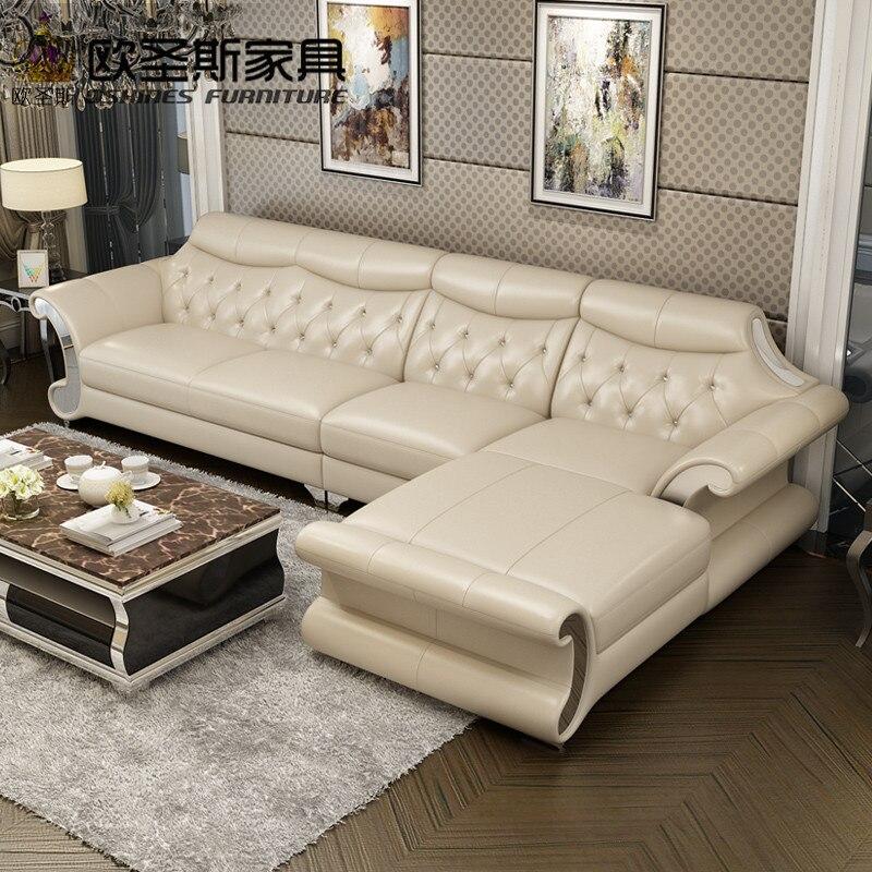 Hermoso post Modern color brillante cama sofá salón Acero inoxidable ...