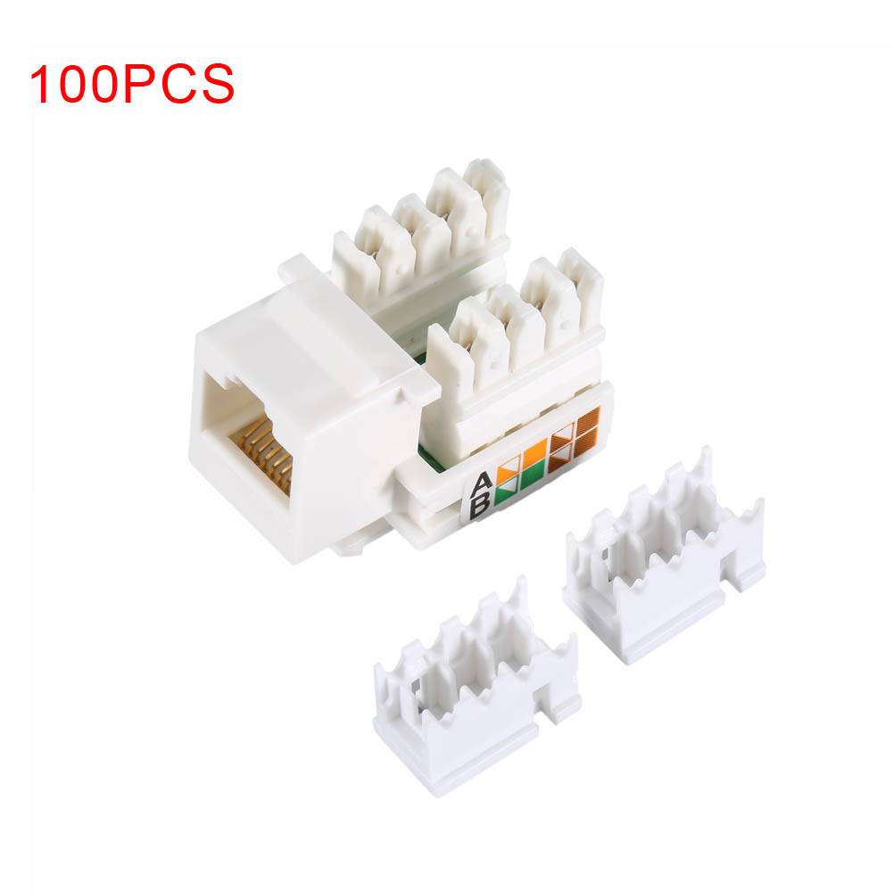 все цены на 100pcs/Lot CAT5e RJ45 Ethernet Networks Port Module Of Irregular Mouth Jack EM88 онлайн