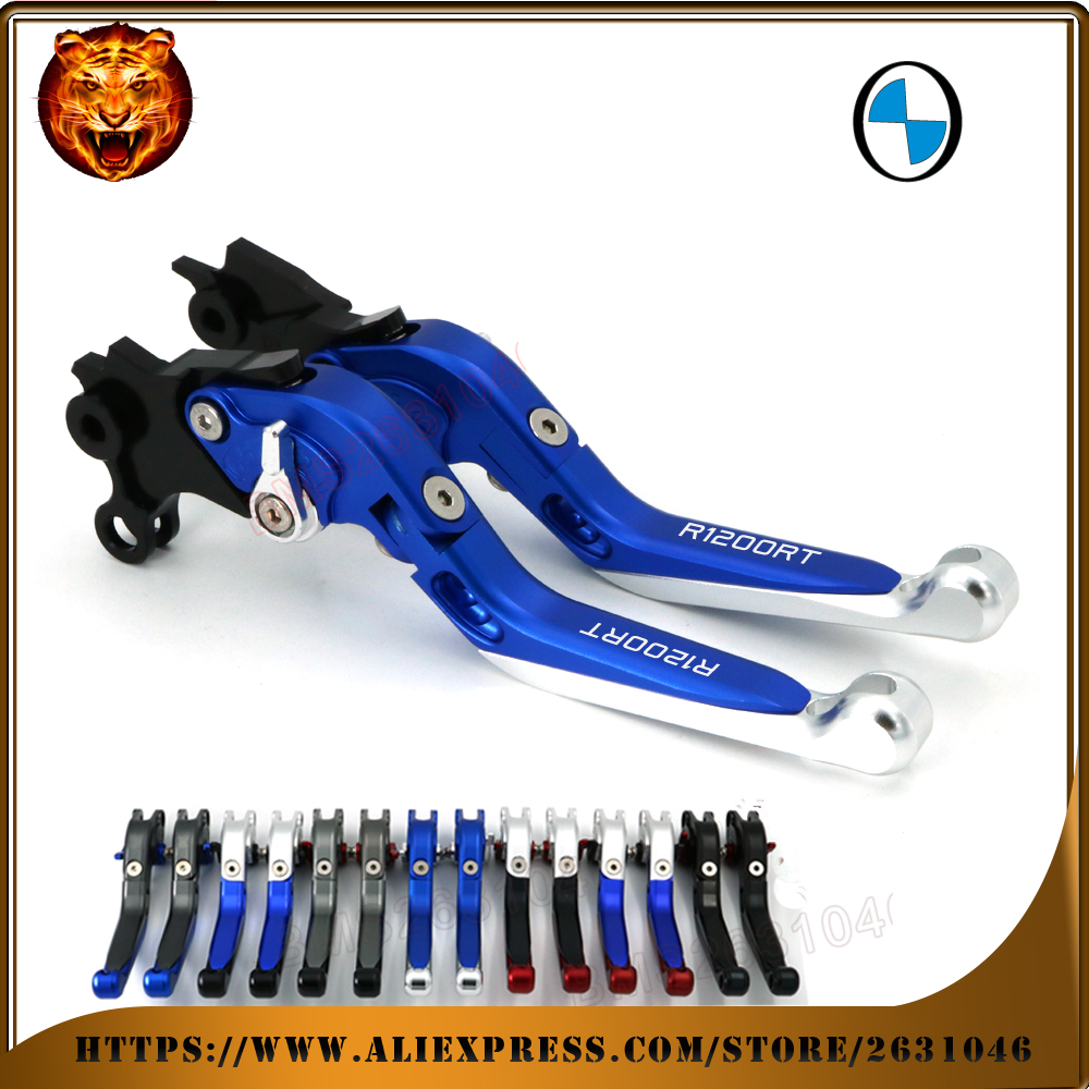 For BMW R1200RT R1200 1200RT 1200 2010-2013  LOGO Blue Black  Motorcycle Adjustable Folding Extendable Brake Clutch Lever bmw logo signature booktype bmflbkp6lob black