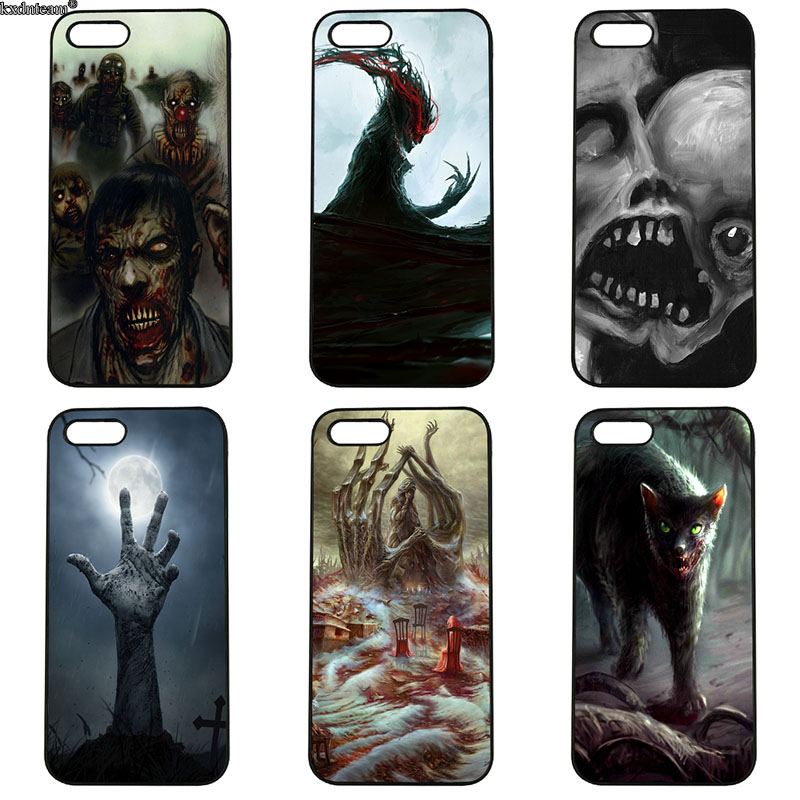 Walking Dead Zombies Skull Mobile Phone Cases Hard PC Cover for iphone 8 7 6 6S Plus X 5S 5C 5 SE 4 4S iPod Touch 4 5 6 Shell