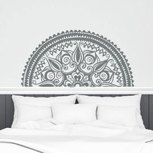Half Mandala Wall Stickers Vinyl Home Decor Bedroom Yoga Murals Lotus Flower India Decals Removable Interior Design YD92