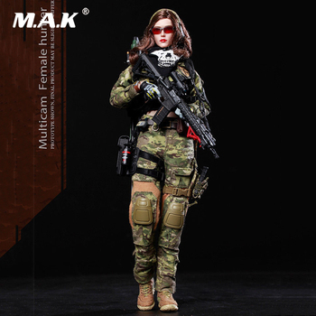 In Stock FS-73015 1/6 Scale Full Set Multicam Female Hunter Shooter MC War Angela Soldier Figure Model for Fans Collection Gifts in stock 1 6 scale zh009 ancient roman soldier full set model action figure for fans gifts with box