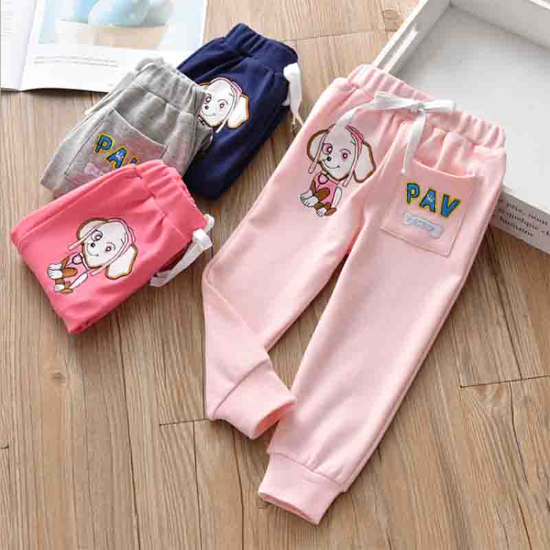 BibiCola girls sports pants spring autumn kids casual cotton long trousers for baby girls children clothing soft pants