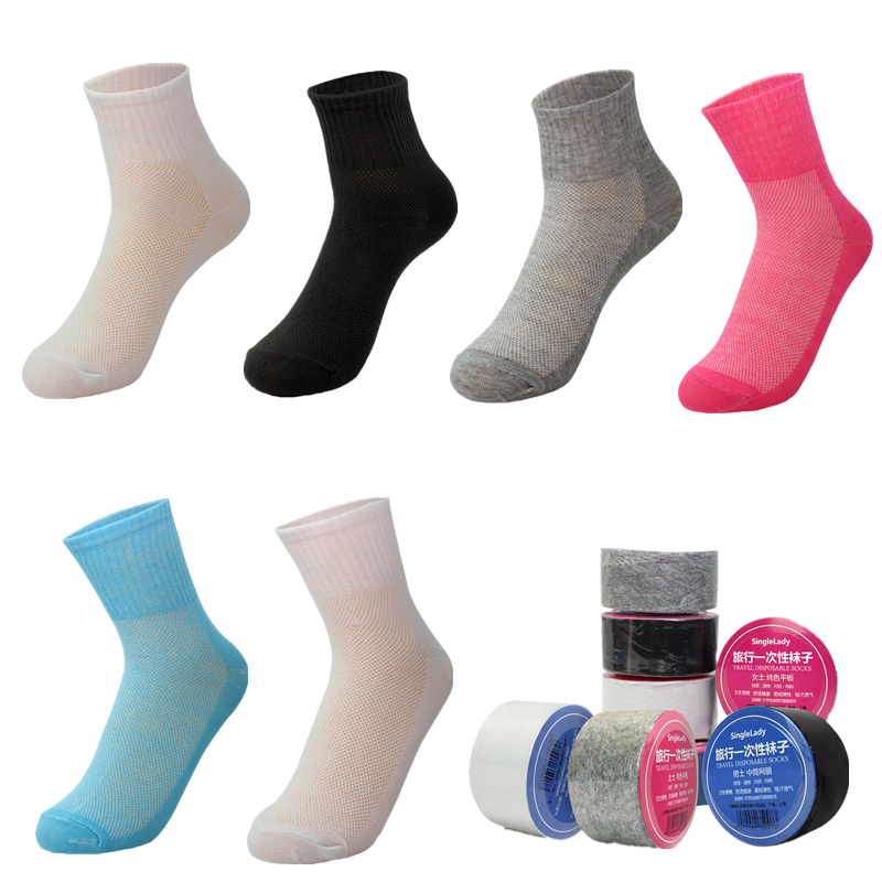 Footies 4 Sets of 144 = 576 Disposable Foot Sox Peds 4 Women Try on Socks
