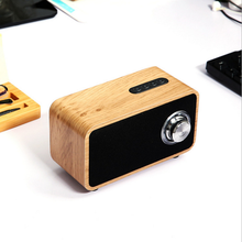 Retro Multifunctional Wooden Bluetooth Speaker Subwoofer FM Radio AUX TF Card USB Disk