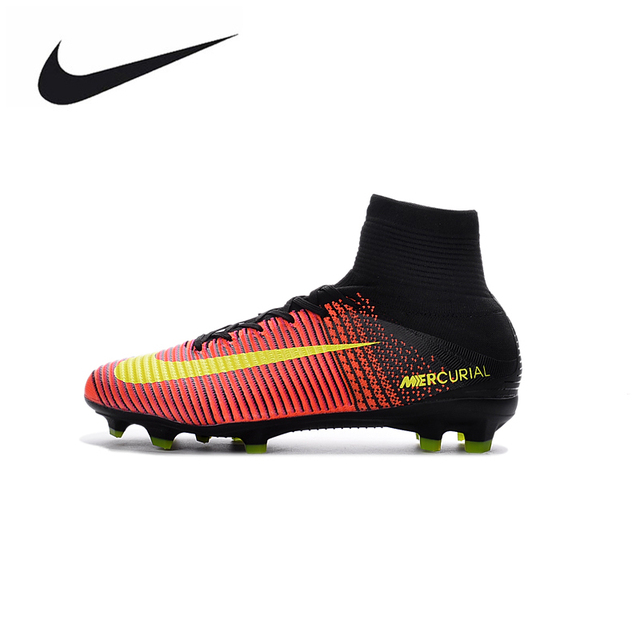 newest 8a5d0 c59ce discount code for nike mercurial superfly v ag soccer shoes superfly high  ankle football boots outdoor
