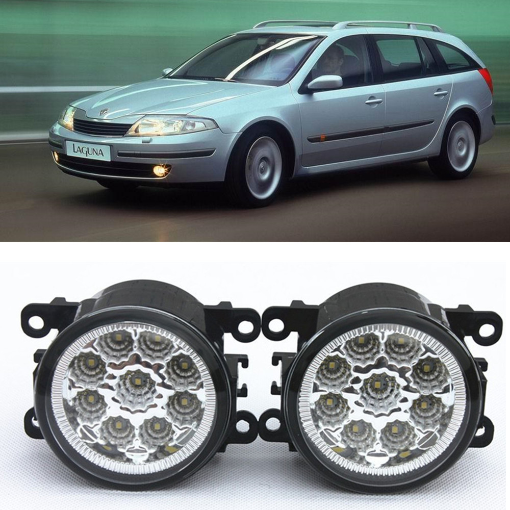 For Renault Laguna 2 Hatchback BG0 BG1_  2001-2015 Car-Styling Led Light-Emitting Diodes DRL Fog lamps 1set for nissan x trail t30 2001 2006 car styling led light emitting diodes drl fog lamps