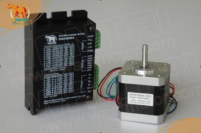 1Axis 64oz-in 4500g-cm 48mm 1.2A 4Leads Nema17  Stepper Motor 42BYGHW804 WANTAI for 3D printer CE&ISO Certified+Driver DQ542MA
